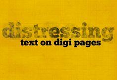 Distressing text