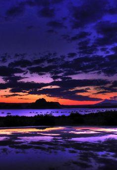 Sunset, Lake Powell, Utah.