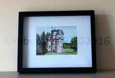 Scottish Castle Print, Craigievar Castle Print Scottish Castle Painting, Scottish Architecture Print, Castle Painting, Castle Art by KimberleyART on Etsy
