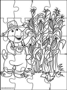 Printable Jigsaw Puzzles To Cut Out For Kids Barney And Friends 17 Coloring Pages