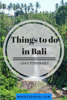 A list of things to do in Bali on a 1 day itinerary. Visit a waterfall, the Sacred Monkey Forest, coffee plantation, Pura Tirtha Empul, Elephant Cave and black sand beach!