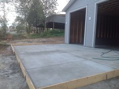 Concrete poured and a deer watching every move