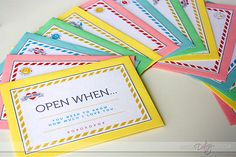"""Open When"" Letters- free download"