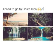 Vacation Places, Vacation Trips, Dream Vacations, Vacation Spots, Amazing Places On Earth, Beautiful Places To Travel, Cool Places To Visit, Costa Rica, Top Travel Destinations