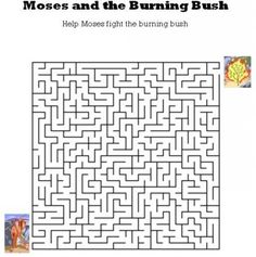 Kids Bible Worksheets-Free, Printable Moses and the Burning Bush Maze