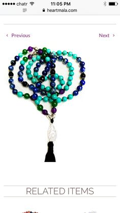 💜This Heart Mala sacred mala prayer bead necklace is hand made with loving intention from 108 healing gemstones of Lapis Lazuli, Turquoise, Jade, Amethyst and Onyx with a Sterling Silver Peacock feather guru bead. ✨The gemstones chosen for this Mala are inspired by the iridescent beauty of the Peacock.  <>$108<> 💜 ~heartmala.com~