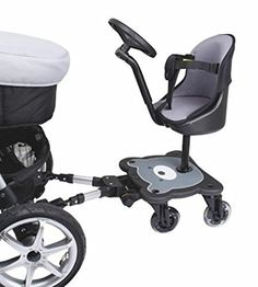 mee go Sit N Ride S Rider Universal Buggy Ride On Board Con Asiento Y Volante para adaptarse a todos los cochecitos, cochecitos y carritos