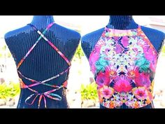 DIY~ Halter Tie-Back Crop Top Out of an Old T-Shirt☼ - YouTube