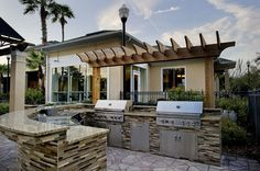 This is what outdoor dreams are made of. Stunning BBQ, perfect for get togethers. West Park Village: Tampa, FL.