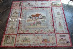 An English Country Garden Quilt  - All the blocks together