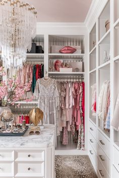 Dressing Room Design, Dressing Rooms, Dream Closets, Girls Dream Closet, Closet Designs, Walk In Closet, Glam Closet, Pink Closet, Luxury Closet