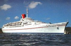 Tss Festivale (a vintage ship from the Carnival Cruise Line)   My first cruise with my sister Tina.   It was week of June 14, 1980.   I had just graduated high school and Tina graduated nursing school.  It was a fascinating trip!  vc