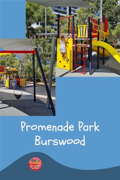 Promenade Park is tucked amongst apartment buildings in Burswood. It has recently been updated with new playground equipment. #perth #perthkids #perthplaygrounds Perth, Playground, Things To Do, Buildings, City, Children Playground, Things To Make, Cities, Outdoor Playground