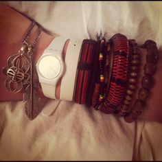 Swatch and bracelets, my favorite!