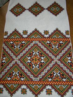 Folk Embroidery Patterns Ukraine , ♥ , from Iryna Palestinian Embroidery, Hungarian Embroidery, Folk Embroidery, Cross Stitch Embroidery, Embroidery Patterns, Machine Embroidery, Cross Stitch Borders, Cross Stitching, Cross Stitch Patterns