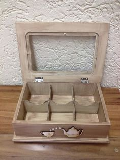 Wooden Crafts, Diy Wood Projects, Resin Crafts, Cushion Cover Designs, Tea Box, Simple Pleasures, Pots, Woodworking, Special Gifts