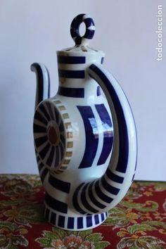 Antigüedades: CAFETERA DE PORCELANA CASTRO , TETERA DE SARGADELOS G.P - Foto 2 - 121159875 Tea Sets, Coffeemaker, Tea Pots, Porcelain