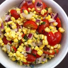 great summer side dishes | Colorful corn and tomato relish makes a great summer side dish.