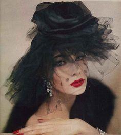 Jessica Ford, January 1957 #millinery #judithm #hats
