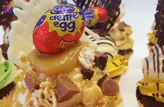 Epic Cadbury Creme Egg Cupcakes