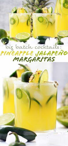 Big Batch Pineapple Jalapeño Margaritas