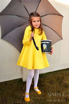 Last Minute DIY Halloween Costumes - Quick Ideas for Adults Kids and Teens - Morton Salt Girl Costume Tutorial (Quick Diy Costume)  sc 1 st  Pinterest & 50 Amazing Halloween Costumes Weu0027re Totally Stealing This Year ...