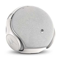 The Motorola Sphere+ provides two ways to enjoy music. Stationary speaker base, the unit also incorporates wireless over-ear headphones that have an IP54 rating for resisting both water and dust. The headphones nest seamlessly into the speaker for charging and storage when you aren't using them out of the house.