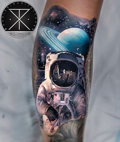 Space tattoos by Chris Rigoni