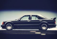 The Evolution brought more hefty aerodynamic changes (Source: Mercedes-Benz) Mercedes Benz 190e, Mercedes 190, Benz G, Classic Mercedes, Kei Car, Classic Cars, Evolution, Vroom Vroom, Sl Logo