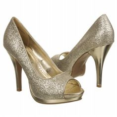 Rampage Gracee in Gold. I have these and they look stunning with a little black dress!