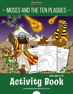 Moses and the Ten Plagues Activity Book: Kids Ages 6-12 – Bible Pathway Adventures Plagues Of Egypt, 10 Plagues, Fish Activities, Bible Activities, Activity Books, Sabbath School Lesson, Adventure Bible, Bible Quiz, Fun Worksheets