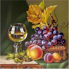 new ideas fruit painting oil pintura Fruit Painting, Fabric Painting, Wine Art, 5d Diamond Painting, Still Life Art, Fruit Art, Pictures To Paint, Art Pictures, Embroidery Kits