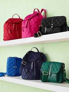 Must-have accessories that are chic, compact and super convenient make the perfect gift. Our Quilted Crossbody Bag and Backpack are an all-day essential that she'll use for years to come! | Talbots