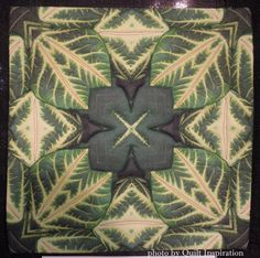 """Nature Kaleidoscope - Tropical Leaves"" by Barbara McKie, 2013 Houston IQF, photo by Quilt Inspiration"