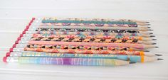 Washi tape makes cheap pencils instantly cuter!