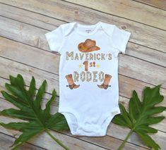 Cowboy Birthday, First Rodeo, Country Baby, Cowboy Party, Rodeo Romper, Baby Shower Gift, Country Boy Birthday, Country Baby Gift,Rodeo baby, first birthday theme