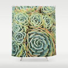 Succulentville+Shower+Curtain+by+RichCaspian+-+$68.00