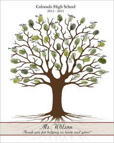Lehrer Fingerabdruck Baum druckbare von CustombyBernolli auf Etsy
