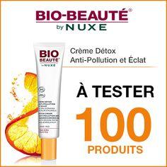Inscrivez-vous et vous ferez peut-être partie des 100 personnes sélectionnées pour recevoir et tester ce produit. En savoir plus sur http://www.beaute-test.com/service/test_produit_bio-beaute-by-nuxe-creme-detox-anti-pollution-et-eclat2.php#XmPDlDaHO8oK1oZ8.99