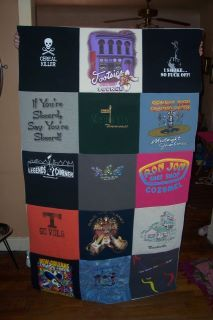 Make this with shirts from kids sports and activities as a keepsake.
