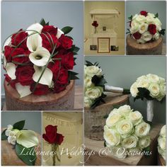 Helen and Simons Wedding Flowers  #redweddingflowers #callalilies #redroses