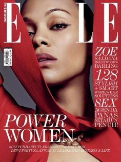 Zoe Saldana - Elle Magazine Cover [Indonesia] (January 2015)