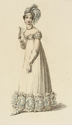 1818 Evening Dress and Turban  Akermann Fashion Plate  collectionsonline.lacma.org