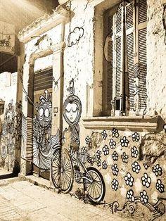 Sonke Greek street artist. Athens