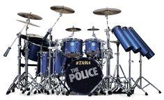 Tama Stewart Copeland Signature Starclassic Maple Drum Set (In Police Blue Sparkle)