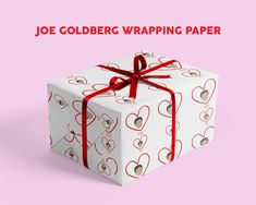 Gift Wrapping Paper - Valentine - YOU - Netflix Penn Badgley Gift Wrap - Anniversary - Joe Goldberg Xmas Greeting Cards, Xmas Greetings, Funny Christmas Cards, Christmas Humor, Wrapping Paper Design, Gift Wrapping Paper, Penn Badgley, Gift Wrapper, Christmas Gift Wrapping