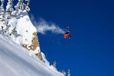 This photo of professional skier Ben Wheeler was taken in the early morning at the Alta ski area in Utah.
