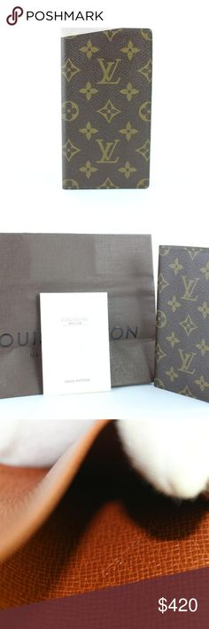 b89db2e649b2 Louis Vuitton Checkbook Long Bifold Wallet 15LZ012 OVERALL EXCELLENT  VINTAGE CONDITION ( 7.5 10 or
