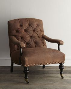 """Wiley"" Leather Chair by Old Hickory Tannery at Horchow."