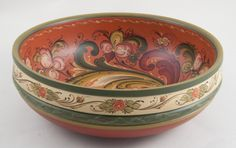 lois mueller rosemaling | 1223 Bowl with Telemark rosemaling. Signed and dated by the artist ...